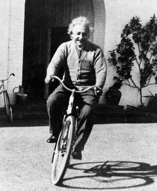 """Life is like riding a bicycle. To keep your balance, you must keep moving."" --Albert Einstein"