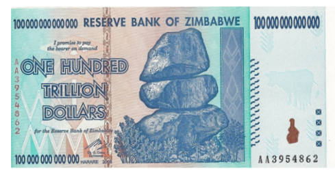 Gold has done very well when denominated in Zimbabwean Dollars