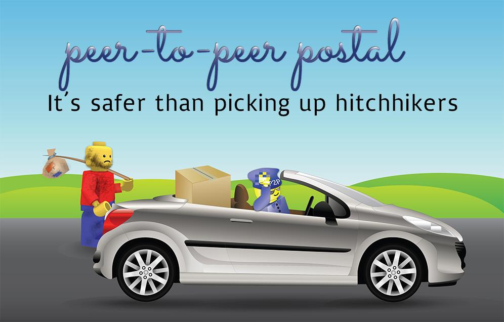 P2P Postal hitchhiker
