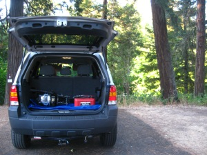outboard motor camping on the Rogue River