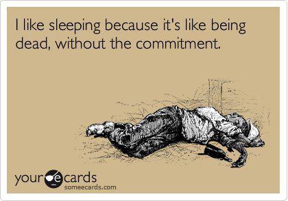 i like sleeping ecard