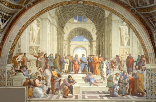 Raphael School of Athens. The first toga party.