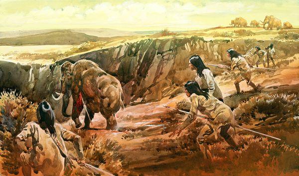 speared-mastodon-bone-early-americans-clovis-illustration_42340_600x450