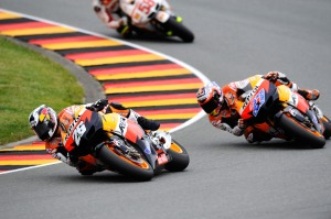 Not quite on the sidewall yet, Pedrosa. Try harder.