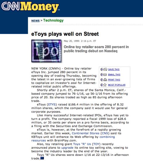 etoys IPO