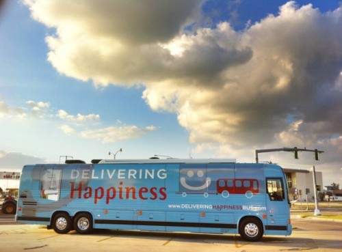 Delivering Happiness Bus