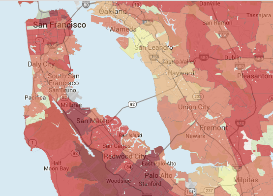 Bay Area Housing prices